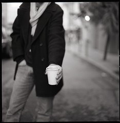 double cappuccino....anyone? (cindyloughridge) Tags: sf bw film square seth fujineopan400 hasselblad500cm doublecappuccino