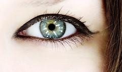 Colourful Eye. (miss.jingles) Tags: black macro green eye yellow petrol colourful