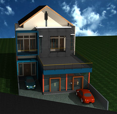 Desain-Rumah-Usaha-2-Lantai by Indograha Arsitama Desain & Build