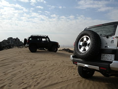 fj cruiser (shine_on) Tags: desert offroad 4x4 dunes toyota jeddah suv fj landcruiser saudiarabia cruiser  fjcruiser       feshfesh