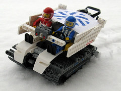 Snow Patrol (mahjqa) Tags: snow expedition electric ir power lego offroad bricks arctic technic figure vehicle motor functions blizzard tracked moc powerfunctions ltec