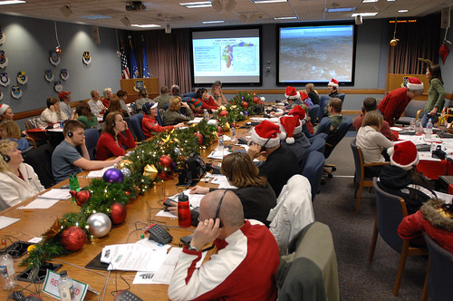 NORAD's Santa Tracking Center (Courtesy NORAD)