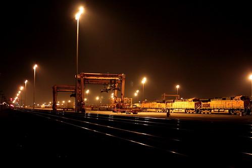BNSF Hobart Yard at Night - Trains Magazine - Trains News
