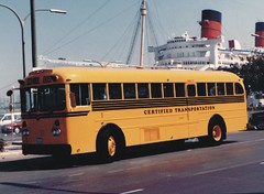 C1 (crown426) Tags: california queenmary longbeach schoolbus gillig catalinaexpress catalinaterminal certifiedtransportation