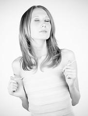 Lena HighKey (Vitaly_S) Tags: bw film studio highkey 6x7 2010 pentax67