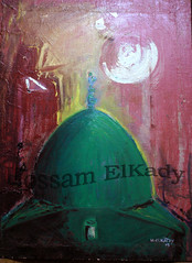 The Green Dome (Hossam ElKady) Tags: blue red color green art painting drawing contemporary fine paintings arts culture worlds oil abstraction innovation immersion  kady       hossam  hosam       elkady      elkadi