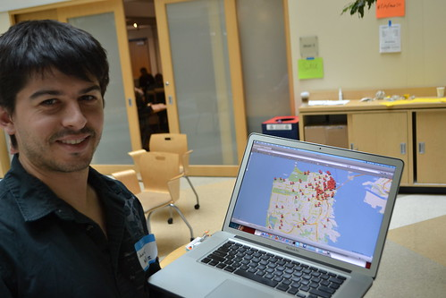 Granicus co-founder Javier Muniz shows his day of work on the SF Fire App at CityCampSF.