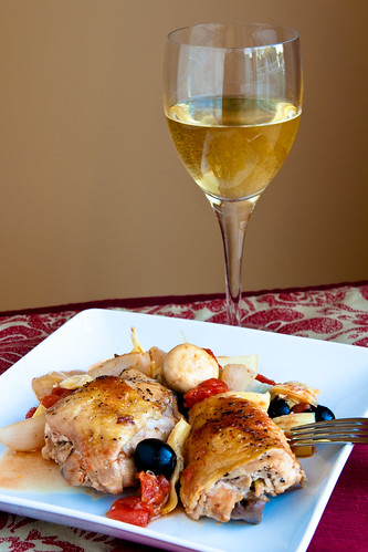 Country Style Pot Roast Chicken with Sherry