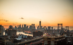 I Have Tried in My Way to Be Free (Thomas Hawk) Tags: america brooklyn manhattan nyc newyork newyorkcity usa unitedstates unitedstatesofamerica williamsburgbridge bridge sunset fav10 fav25 fav50 fav100