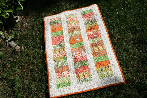 Orange & Green Coin Quilt