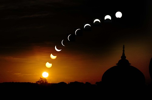 Celebrating My First Century Post ________Eclipse Seen in Lucknow Explored / Anurag Rastogi