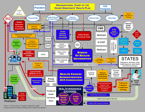 Rep. Kevin Brady (R-Texas) Government Health Care Organizational Chart