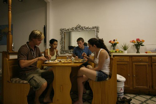 At home with couchsurfing friends...