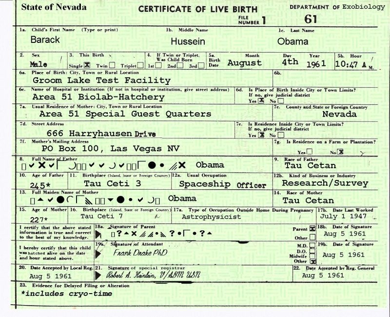 Obamas Brother Posts Obamas Real Birth Certificate On Twitter