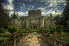 Hatley Castle (Brandon Godfrey) Tags: world pictures canada castle castles beautiful stone gardens wonderful landscape photography photo amazing fantastic scenery 2000 day bc shot cloudy photos shots pics earth 10 britishcolumbia sony masonry picture favorites pic scene images xmen walkway 25 views creativecommons pacificnorthwest northamerica faves 100 300 unreal alpha dslr 50 smallville incredible 1500 hdr highdynamicrange 1000 comments victoriabc 1908 royalroadsuniversity outstanding hatleycastle a300 colwood photomatix tonemapped singlerawfilehdr platinumheartaward canadiannationalhistoricsite dslra300 sonya300 scottishbaronialstyle 100commentgroup luthormansion jamesdunsmuir hatleyparkhistoricsite architectsamualmaclure brandongodfrey