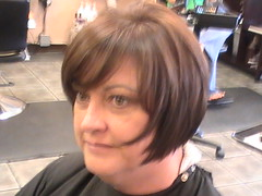 Donna haircut finished side (thehairroomstudio) Tags: new york woman haircut hot color hair orlando iron long flat cut awesome bob scissors edge short trendy styles fade hip blowout hairstyle sleek flatiron clipper razor angled stylish blower stylist fashionable layered hilights clippercut scissorcut