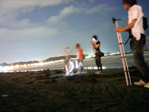 20090811-湘南にて夜花火。