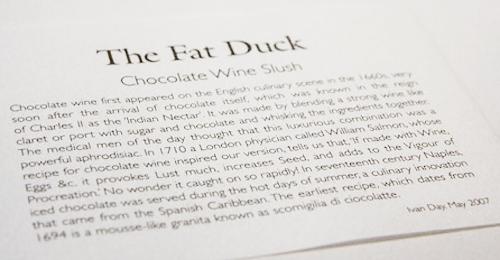 The Fat Duck-Bray-090806 Part THREE