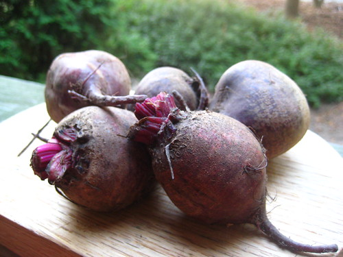 beets, raw and dirty.