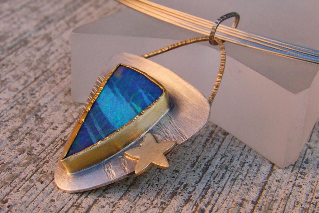 Meteor Shower Opal Pendant