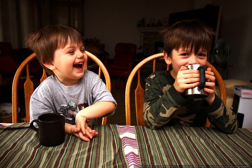 brothers having hot chocolate for breakfast - _MG_1530
