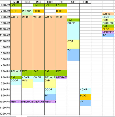Schedule (proposed)