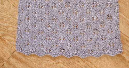 flame stitch shawl edge