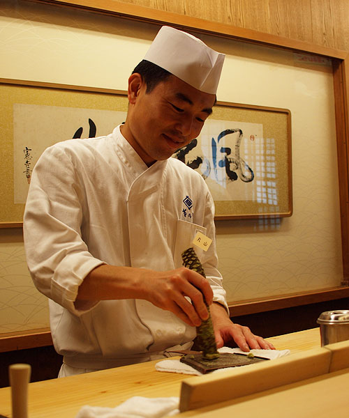 Roan-Kikunoi-grating-wasabi