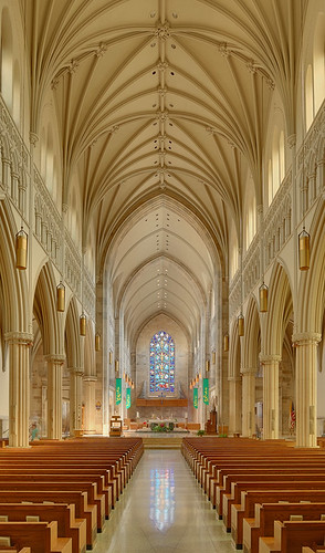 Roman Catholic Cathedral of Saint Peter, in Belleville, Illinois, USA - nave