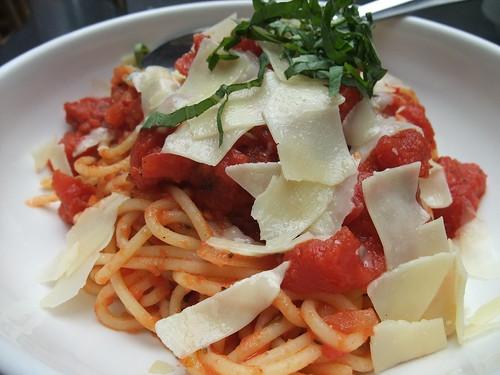 Pasta Pomodoro at Basi Italia
