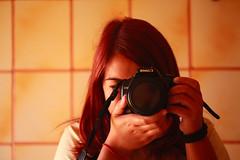 Me (Ilaria Corda IlaMila) Tags: sardegna red portrait canon hair persona eos reflex sardinia mila autoritratto rosso ilaria ritratto oristano mattonelle 450d