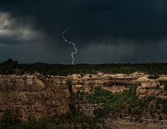 Lighting strike over Cliff Palace (kern.justin) Tags: park lighting cliff storm verde rain nikon ruins pueblo national bolt mesa anasazi ancestral dwellings d700 kernjustin wwwthewindypixelcom