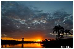 Sunset (Tiago De Brino) Tags: sunset pordosol sky sun sol clouds lago nikon nuvole cu cielo nuvens sole d90