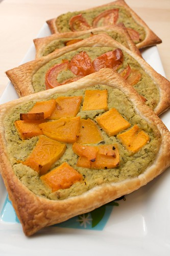 white bean pesto tarts