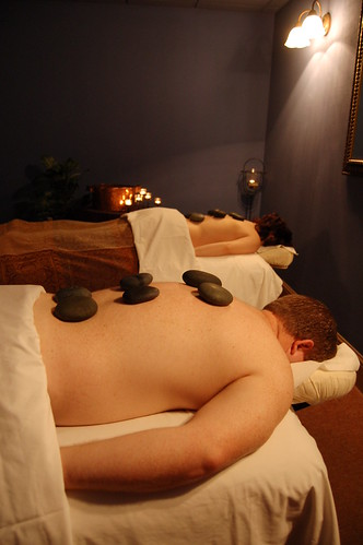 Couple's Hot Stone Massage at the Spa at Foundry Park Inn