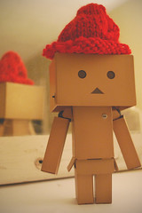 First Attempt at In the Round (Lucy*Lou) Tags: knitting intheround danbo danboard
