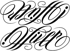 """Antti"" & ""Oliver"" Ambigram"