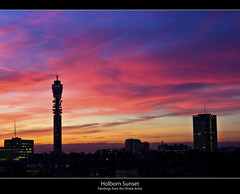 Paintings from the Divine Artist (edmundlwk) Tags: city sunset london skyline buildings lights high colours holborn bttower beacon bbcradio1 efs1755mmf28 canon450d edmundlim
