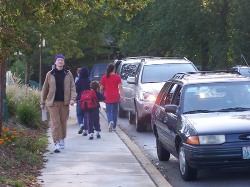 Children going to school at Stoneleigh Elementary School, Towson