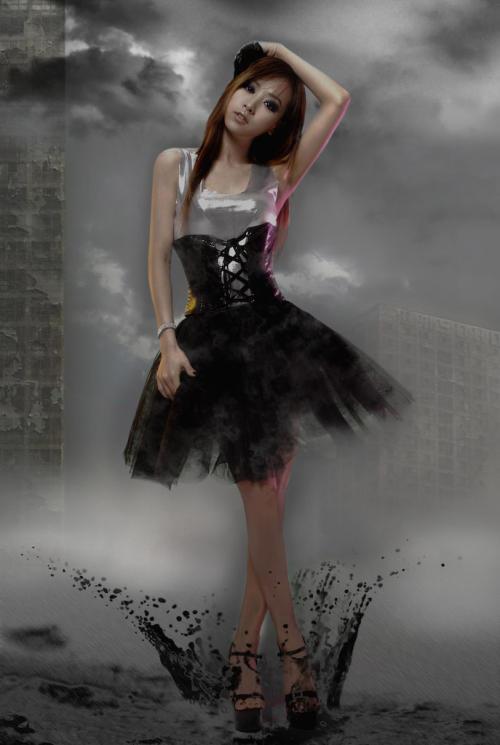 Korea Singer Sara Cartoon Style Photos  tag: sara korea actress