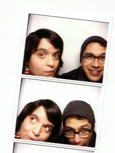 me and adam in a broken photobooth.