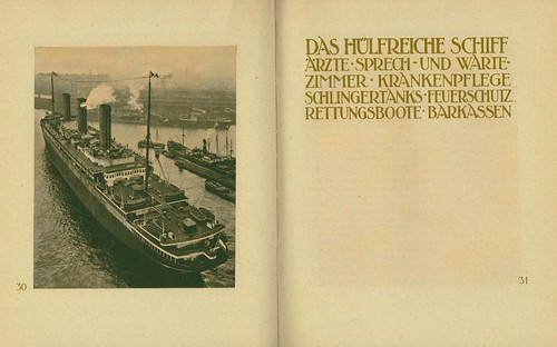 2-page spread from Turbinen-Schnelldampfer Imperator.