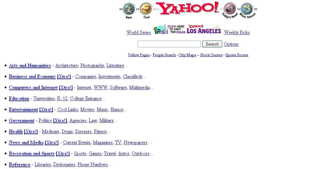 How Top webpages of the world looked when they were first launched?