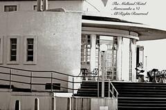Midland Hotel : Sigma IC AF 70 - 210mm F4 -5.6 zoom : (norbet1) Tags: uk england bw english monochrome digital photoshop blackwhite nikon noiretblanc zoom north sigma nikond50 lancashire adobe british morecambe lenses seafronts sigmaic70210mmafzoomf456