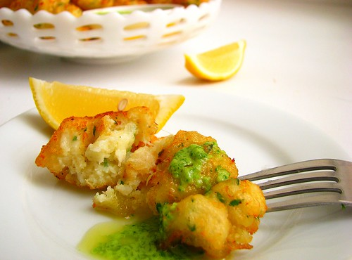 Find the recipe for Portuguese-Style Salt Cod Fritters with Lemon and ...