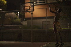 Jump (honeybSF) Tags: sanfrancisco ca shirtless usa basketball jump nighttime teenager africanamerican shooting hoops basketballcourt younman