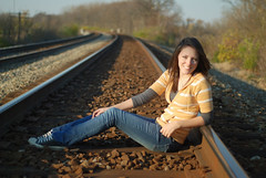 Melinda 3 (TSphoto1) Tags: railroad portrait senior girl 50mm nikon bokeh tracks d80 f118 nikoncapturenx