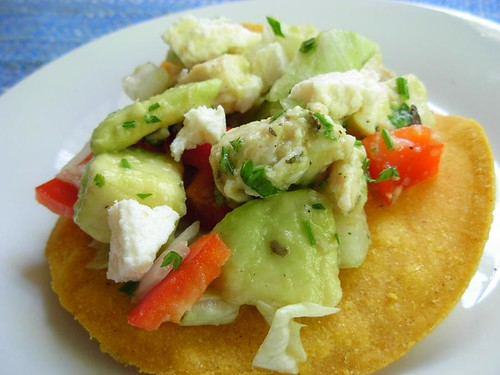 Chicken Avocado Tostadas