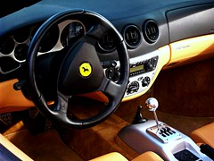 Ferrari 360 Modena Spider Interior (agup627) Tags: leather spider convertible 360 ferrari spyder seats clutch manual modena transmission gupta f360 handbrake cavallino 6speed 360m agupta