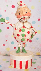 redspottysanta2 (thepolkadotpixie) Tags: santa christmas winter glitter paper snowman hand polka dot pixie clay spotty mache dotty sculpted
